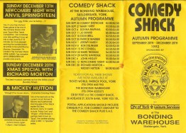 'The Comedy Shack' York - Steve Bennet's gig.